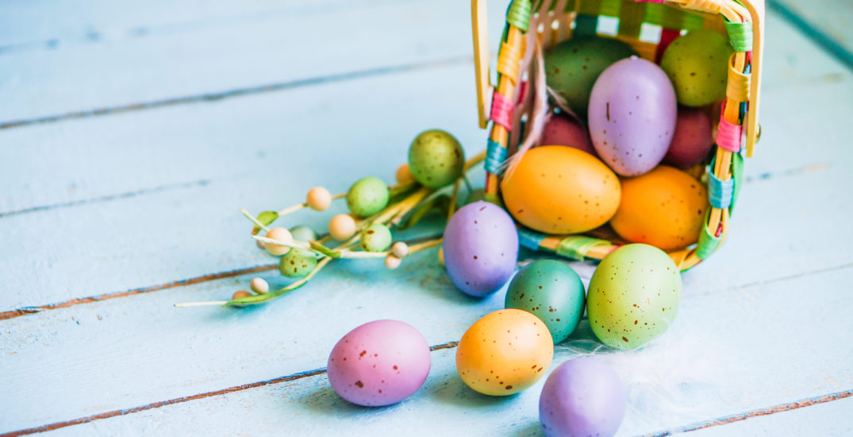 cesta huevos